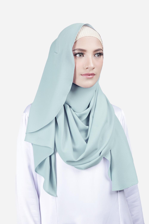 Cantik Kerudung Sheefa 2 Face Lycra Navy Blue Daftar Harga Zada Printed Pashmina Scarf Black Mix